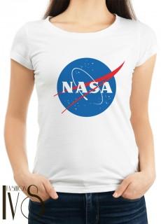 Дамска бяла тениска NASA