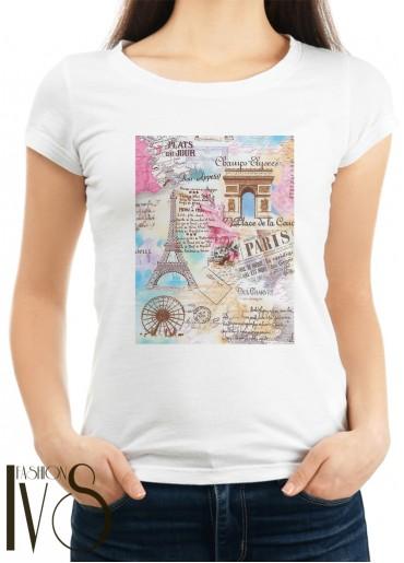 Дамска тениска бяла -  PARIS