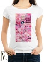 Дамска тениска бяла - JUST PEACHY