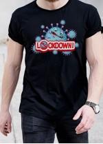 Мъжка черна тениска LOCK DOWN