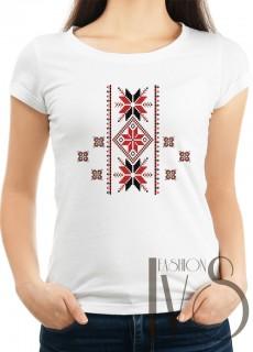 Дамска тениска с фолклорни мотиви Модел 17F шевици