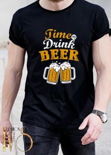 Мъжка тениска TIME TO DRINK BEER