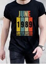 Мъжка тениска черна - ПЕРСОНАЛИЗИРАНА ТЕНИСКА С ВАШАТА ГОДИНА НА РАЖДАНЕ