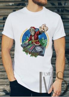 Мъжка тениска с коледни мотиви Модел 35BM