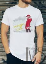 Мъжка тениска с коледни мотиви Модел 37BM