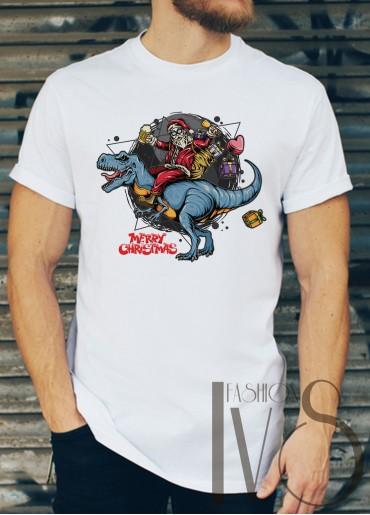 Мъжка тениска с коледни мотиви Модел 42BM