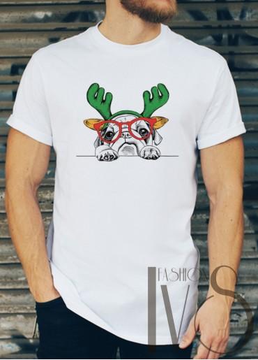 Мъжка тениска с коледни мотиви Модел 48BM