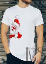 Мъжка тениска с коледни мотиви Модел 14BM
