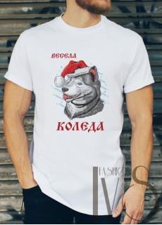 Мъжка тениска с коледни мотиви Модел 199BM