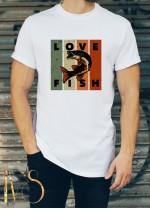 Мъжка бяла тениска ЛОВ И РИБОЛОВ Модел 4
