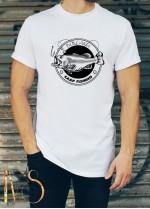 Мъжка бяла тениска ЛОВ И РИБОЛОВ Модел 8