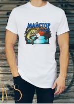 Мъжка бяла тениска ЛОВ И РИБОЛОВ Модел 13
