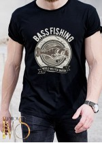 Мъжка черна тениска ЛОВ И РИБОЛОВ Модел 5