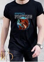 Мъжка черна тениска ЛОВ И РИБОЛОВ Модел 6
