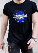 Мъжка черна тениска ЛОВ И РИБОЛОВ Модел 8