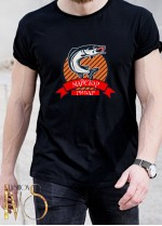 Мъжка черна тениска ЛОВ И РИБОЛОВ Модел 19