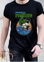 Мъжка черна тениска ЛОВ И РИБОЛОВ Модел 20
