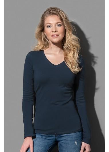 Дамска памучна изчистена блуза с дълъг ръкав stedman