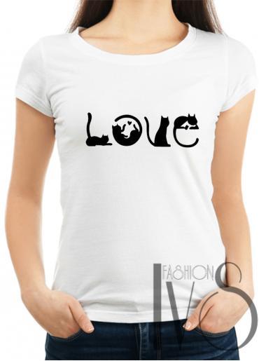 Дамска тениска бяла Модел 1010