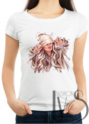 Дамска тениска бяла Модел 1014