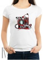 Дамска тениска бяла - ART STYLE
