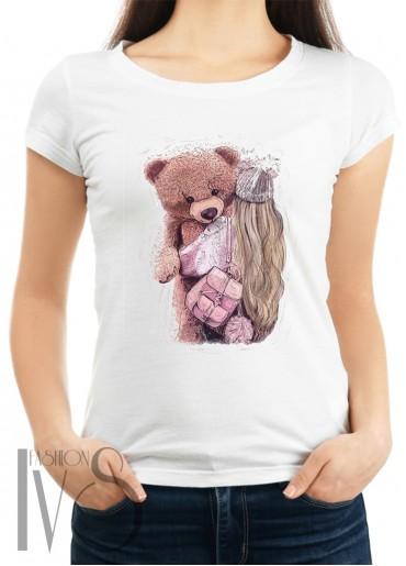 Дамска тениска бяла - BIG BEAR