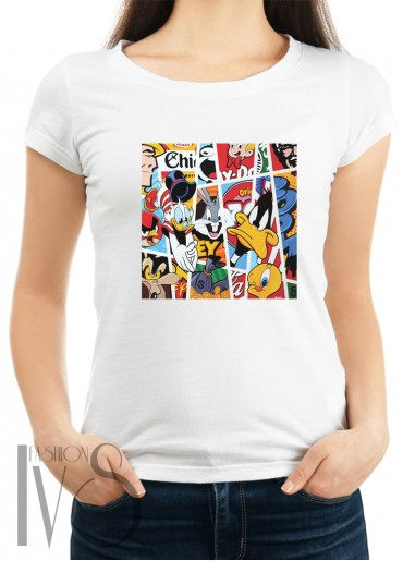 Дамска тениска бяла - disney