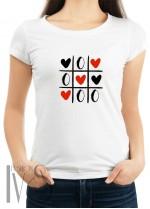 Дамска тениска бяла - love chess