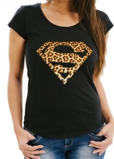 Дамска черна тениска SUPER GIRL модел 2