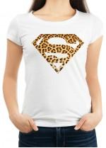 Дамска бяла тениска SUPER GIRL модел 1