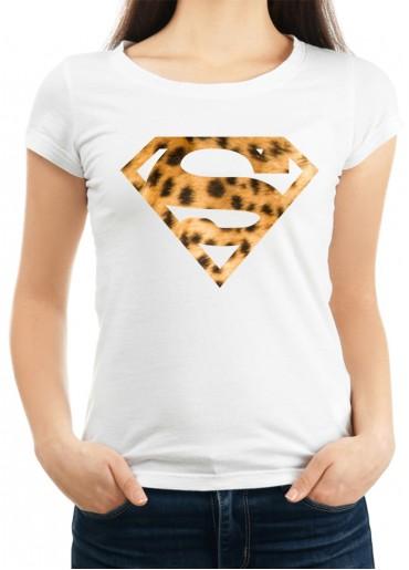 Дамска бяла тениска SUPER GIRL модел 2