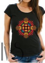 Дамска тениска с фолклорни мотиви Модел 2FB шевици