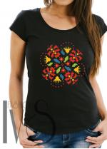 Дамска тениска с фолклорни мотиви Модел 5FB шевици