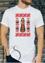 Мъжка тениска с фолклорни мотиви Модел 22FM шевици
