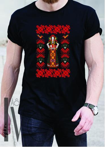 Мъжка тениска с фолклорни мотиви Модел 13MB шевици