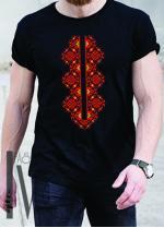 Мъжка тениска с фолклорни мотиви Модел 16MB шевици