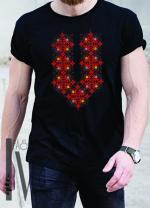 Мъжка тениска с фолклорни мотиви Модел 17MB шевици