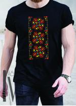 Мъжка тениска с фолклорни мотиви Модел 19MB шевици