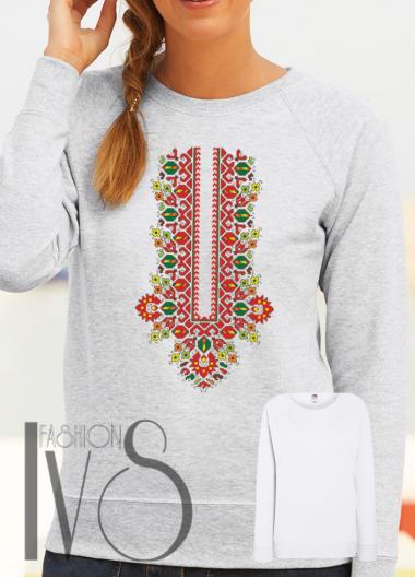 Дамска блуза с фолклорни мотиви Модел 107SF