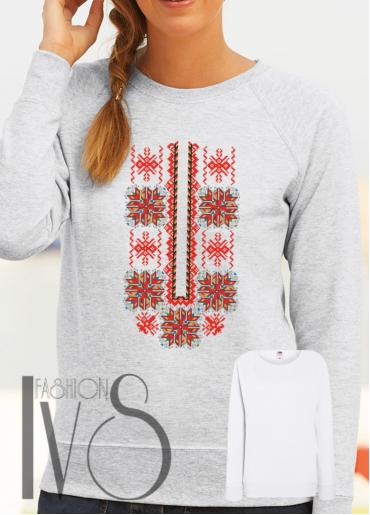 Дамска блуза с фолклорни мотиви Модел 110SF