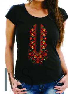 Дамска тениска с фолклорни мотиви Модел 13FB шевици