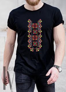 Мъжка тениска с фолклорни мотиви Модел 1MB шевици