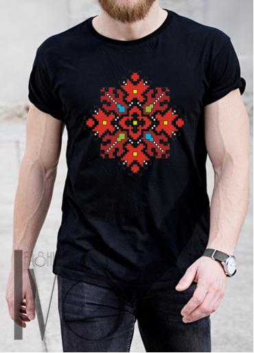 Мъжка тениска с фолклорни мотиви Модел 2MB шевици