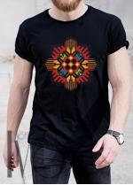 Мъжка тениска с фолклорни мотиви Модел 3MB шевици