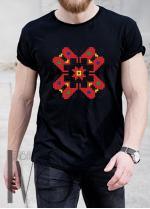 Мъжка тениска с фолклорни мотиви Модел 7MB шевици