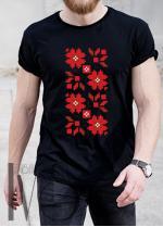 Мъжка тениска с фолклорни мотиви Модел 8MB шевици