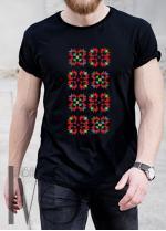 Мъжка тениска с фолклорни мотиви Модел 9MB шевици