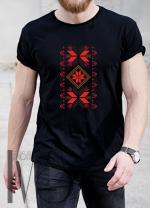 Мъжка тениска с фолклорни мотиви Модел 10MB шевици