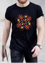 Мъжка тениска с фолклорни мотиви Модел 11MB шевици