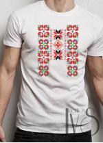 Мъжка тениска с фолклорни мотиви Модел 2FM шевици